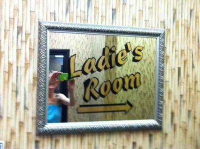 ladies room typo