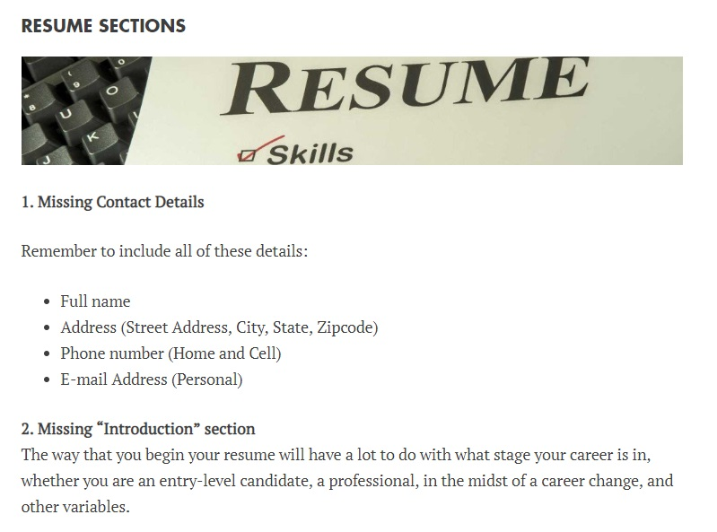 1 Resume Category Free Ask A Manager
