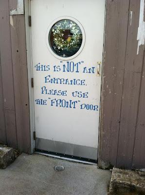 front door typo