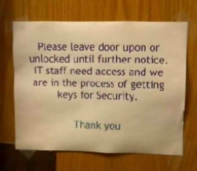 leave door typo